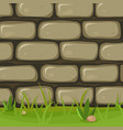 cartoon rural stone wall vector image vector image