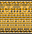 caution stripe border warning yellow black tape vector image