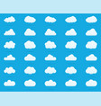 cloud icon set white color on blue background sky vector image