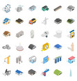 construction icons set isometric style vector image vector image