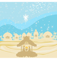 crib brown silhouettes of landscape collage vector image