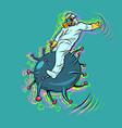 doctor fights coronavirus like a wild vector image