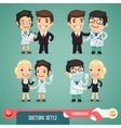 Doctors Cartoon Characters Set12 vector image vector image