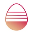 easter egg with horizontal lines design vector image