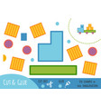 education paper game for children lorry vector image vector image