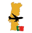 fly me to the Portugal vector image vector image