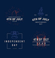 fourth july typography design collection - 4th vector image