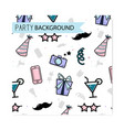 friday party pattern birthday funny vector image vector image