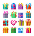 gifts or presents boxes icocns set vector image vector image