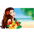 Girl on the beach vector | Price: 3 Credits (USD $3)