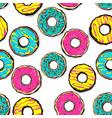 glazed doughnut seamless pattern pop art vector image vector image