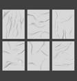 glued paper poster realistic wet wrinkled paper vector image vector image