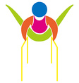 Gymnastics with parallel bars icon vector image vector image