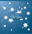 happy new year greeting postcard paper snowflakes vector image