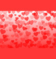 heart confetti vector image vector image