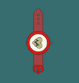icon in flat design sports watches vector image vector image