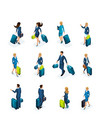 isometric large set of businessmen and business vector image vector image