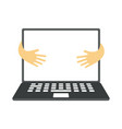 laptop with blank screen flat vector image