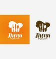 menu logo cuisine cooking symbol vector image vector image