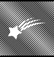 meteor shower sign icon hole in moire vector image vector image