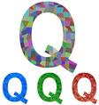Mosaic font design - letter Q vector image vector image