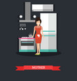 Mother in kitchen concept in