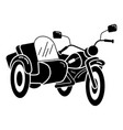 motorbike tricycle icon simple style vector image vector image