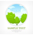 Nature in round vector image vector image