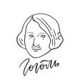 nikolai gogol - great russian writer - line art vector image vector image