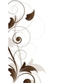 Ornamental border with floral elements and swirls vector image