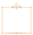 patterned frame vector image