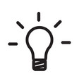 pictograph light bulb vector image