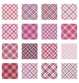 Plaid patterns collection pink shades vector image