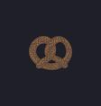 Pretzel computer symbol vector image
