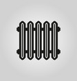 radiator icon heater and heating heat symbol vector image