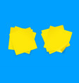 realistic detailed 3d yellow sticky note set vector image vector image