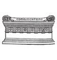roman sarcophagus tomb a coffin or tomb of stone vector image vector image