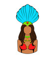 samba girl icon cartoon vector image vector image