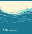 sea wave background for text vector image vector image