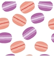 Seamless pattern with colorful macaroon cookies on vector image vector image