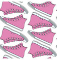 seamless pattern with pink sneakers gumshoes vector image
