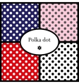 Set of polka dot patterns vector image vector image