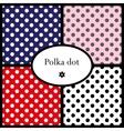 set polka dot patterns vector image vector image