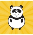 smile panda vector image vector image