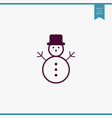 snowman icon simple vector image