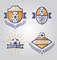 soccer isolated emblems or logos part 2 vector image vector image
