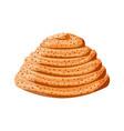 sweet bun icon fresh sweet cinnamon roll vector image