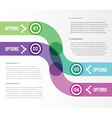 two smooth strips for infographics with four vector image vector image