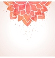 Watercolor red flower pattern background vector image