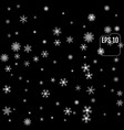 winter pattern of snowflakes on a black background vector image vector image